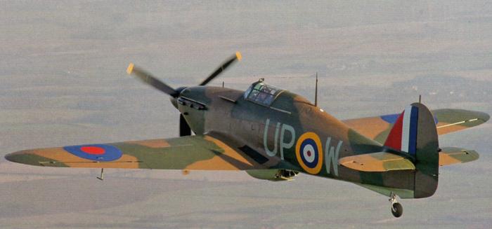 Stuart Goldspink flies Hurricane R4118 near Cambridge on January 13.